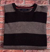 TOMMY HILFIGER Men Crew Neck Lambs Wool Sweater Jumper TOP Size XL