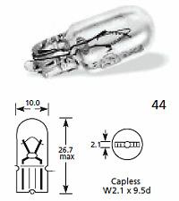 2 X (par) Lucas llb501a 12v 5w ámbar Repetidor bombillas para lámpara Coche Clásico sidelights