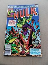 The Incredible Hulk 263 .Landslide & Avalanche App .  Marvel 1981 -  FN /  VF
