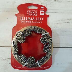 NEW Yankee Candle Illuma-Lid Pinecone Christmas Fall Jar Candle Topper Bronz
