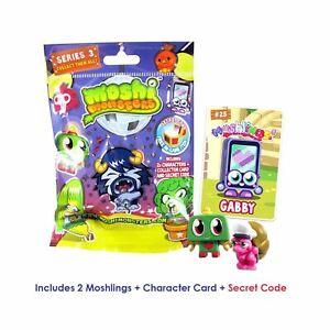 Moshi Monsters Series 3 Sealed Packs Blind Bag Collectable Figures 2 Moshlings