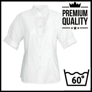 UK 20,Ladies womans Short Sleeve Formal Oxford Shirt BUSINESS OFFICE WORK CASUAL