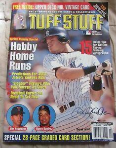 Derek Jeter New York Yankees Hall of Fame April 2001 issue Tuff Stuff Magazine