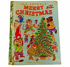 A GIANT GOLDEN BOOK THE ANIMALS MERRY CHRISTMAS 1950 KATHRYN JACKSON VINTAGE