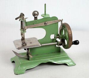 Vintage Working Child's Size Hand Crank Green Sewing Machine