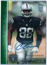 2015 Topps Field Access Clive Walford Green Parallel Auto RC /50 Raiders