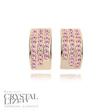 PINK LADY Swarovski Elements Crystal 18KRGP Gold Plated Stud Bridesmaid Earrings