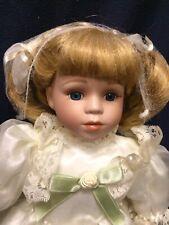 Beautiful Porcelain Doll White Dress
