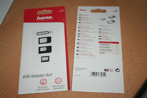 Hama Sim Karten Adapter Set Handy Tablet Nadel 1 Packung