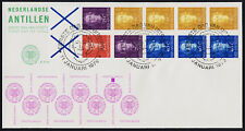 Netherlands Antilles 427 Booklet pane 4Ap on FDC - Queen Juliana