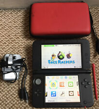 *Nintendo 3DS XL Red/Black Handheld Console with Stylus, Charger & Case*