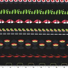 FAT QUARTER-Conveyor Sushi Food Japan Fabric Michael Miller DC7463-LACQ-D