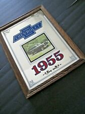 VINTAGE CHEVY 1955 Chevrolet BelAir Station Wagon MIRROR Advertising Collector