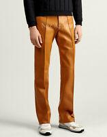 men handmade vintage western brown leather pants trouser Bisonhide jeans