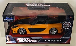 Jada Fast & Furious Han's Mazda RX-7 Orange 1/32 die cast Car