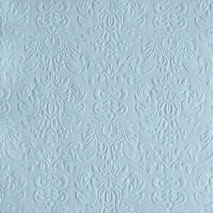 15 Paper Party Napkins Elegance Pale Blue 15 Pack 3 Ply Embossed Serviettes