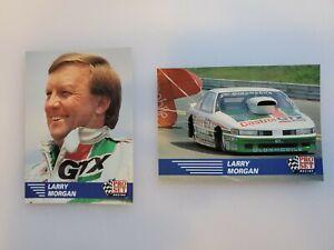 (2) 1991 Pro Set NHRA LARRY MORGAN Card Lot  #37 & #85 NICE! Team JOHN FORCE