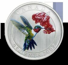 2007 Canada Ruby-Throated Hummingbird 25 Cents Coin - Sale