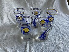 5 Vintage Indiana Pacers Drinking Glass Cup ABA NBA Basketball Daniels Miller D2