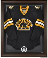 Boston Bruins Brown Framed Logo Jersey Display Case - Fanatics Authentic