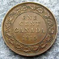 CANADA GEORGE V 1915 ONE CENT, BRONZE