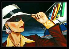 Aida Frauenportrait groß 100 x 70 cm Schiff Perla Blu Aura Grafik Volker Welz AK