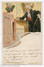 illustrateur Leopoldo Metlicovitz . TOSCA . OPERA de Puccini
