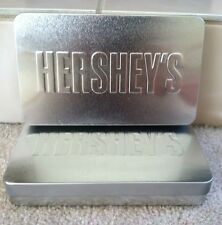 Hershey's Chocolate Tins Set Of Two Silver