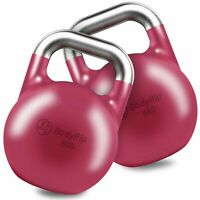 BodyRip Competition Kettlebell Weight 2 x 8KG Colour Coded Fitness Gym Crossfit