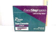 """EASYSTEP 2200 Label Sign Maker Green 2 1/8"""" Tape Cassette 2 Pack Letrex 700 720"""