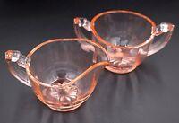 Vintage Bartlett-Collins Pink Depression Glass Paneled #87 Creamer & Sugar Set