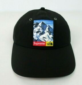 Supreme X The North Face? Mountain Black 6 Panel Cap Hat FW17 100% Authentic