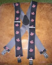 """Canada Canadian Maple Leaf Adjustable Suspenders Made In USA 2"""" Wide"""