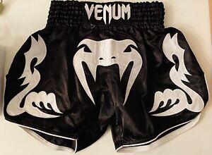Venum Bangkok Inferno Muay Thai Shorts - Black/White