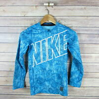 Nike Pro HYPERWARM FLASH Girls/' Polka Dot Running Tights ** GREEN//BLUE ** NWT