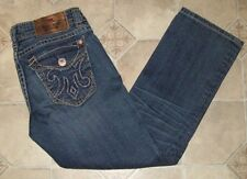 MEK DENIM ~  WOMENS W26 ~ NEW MAZATLAN CAPRI ~ STRETCH ~ BLUE JEANS