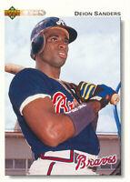 Deion Sanders 1992 Upper Deck #247 Atlanta Braves baseball Card