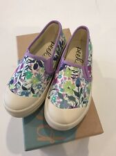 NEW Sz 10 PEEK AREN'T You Curious LIBERTY OF LONDON GIRL CAMELLIA SNEAKERS SHOES