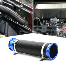"""Flexible Adjustable Car 3"""" PVC Blue Turbo Cold Air Intake Inlet Pipe Hose Tube"""