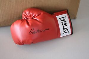 "ROBERTO DURAN SIGNED EVERLAST BOXING GLOVE ""HAND OF STONE"" JSA WITNESS LEFT"