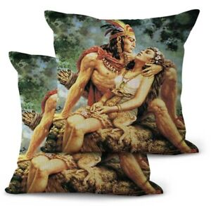 2PCS decorative pillow Jesus Helguera artwork Mexican cushion cover