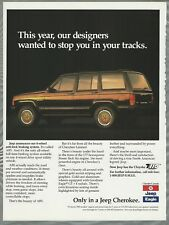 1989 JEEP CHEROKEE advertisement, Chrysler Jeep Eagle