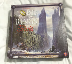 J.R.R. TOLKIEN's LORD OF THE RINGS TRIVIA GAME New Rare Xmas Gift