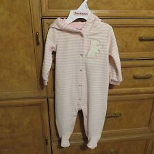 infant girls Juicy Couture pajamas Velour feet hoodie sleepwear 3-6M NWT $68.00
