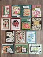 14 handmade thank you cards with envelopes. Stampin Up and more.