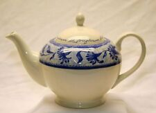 """BLUE WILLOW CHURCHILL / ENGLAND CHINA VINTAGE LARGE REAR TEAPOT 10"""""""