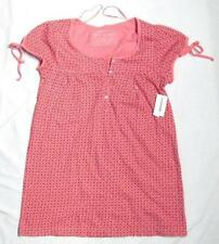NWT NEW SMALL AEROPOSTALE PINK TOP/HENLEY JUNIOR SIZE S cute fun sassy BuTtONS