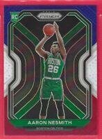2020-21 Prizm Aaron Nesmith Rookie Red-White-Blue Prizm RC #282 Boston Celtics