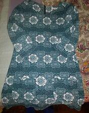 ladies White Stuff green/blue floral cotton tunic size 8