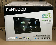 """Kenwood DMX-125DAB 6.8"""" Bluetooth DAB+ Touch Car Android Stereo & DAB Aerial NEW"""